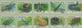 "NZ SG2104b Insects sheetlet of 10 from FDC ""Jumbo Roll"" production"